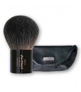 KABUKI POWDER BRUSH CLASSIC LUXE IN LEATHER SLEEVE