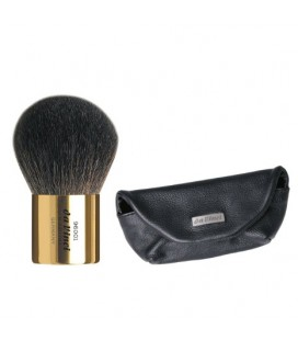 KABUKI POWDER BRUSH IN LEATHER SLEEVE GOLD COLLECTION
